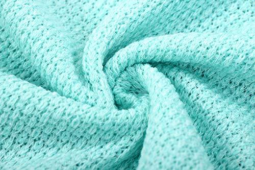 Cime Scollo Sciolto V Inverno Bluse Pullover Moda Maglieria Unita Sweater Casual Tinta Donne Maglione Lunga Jumpers Autunno Verde Manica vIT74