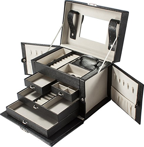 BARSKA Cheri Bliss Jewelry Case, 10 x 7 x 7.5-Inch