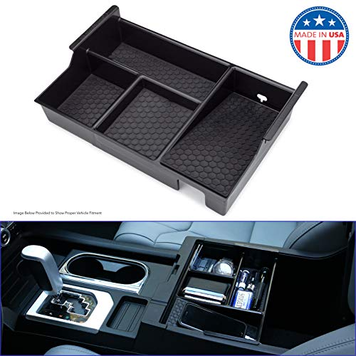 MX Auto Accessories - Center Console Organizer Compatible with The Toyota Tundra & Sequoia (2007-2019) - Made in The USA