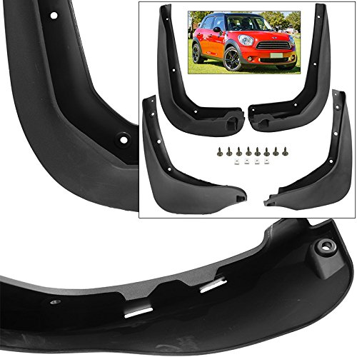 Front Rear Mud Flaps Splash Guards 2011-2016 Mini Cooper Countryman R60 Base S