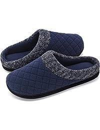 RockDove - Zapatillas de Espuma viscoelástica para Hombre con Cuello Acanalado de Punto de Mano