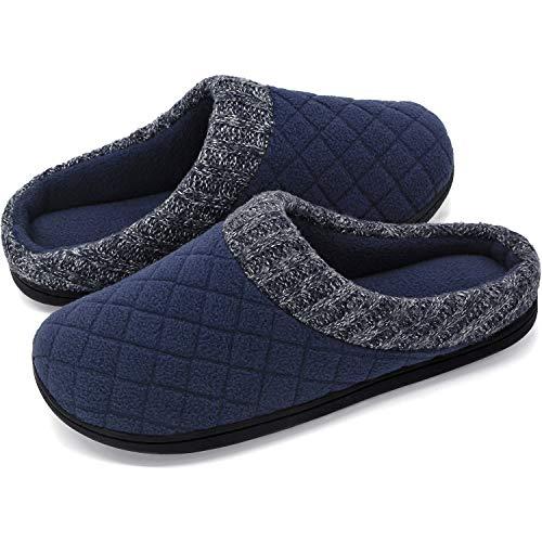 RockDove - Zapatillas de Espuma viscoelástica para Hombre con Cuello Acanalado de Punto de Mano, Marino, 11-12 D(M) US