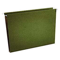 Universal One Box Bottom Hanging Folder, Pressboard, Letter, Standard Green, 25/Box (14141)
