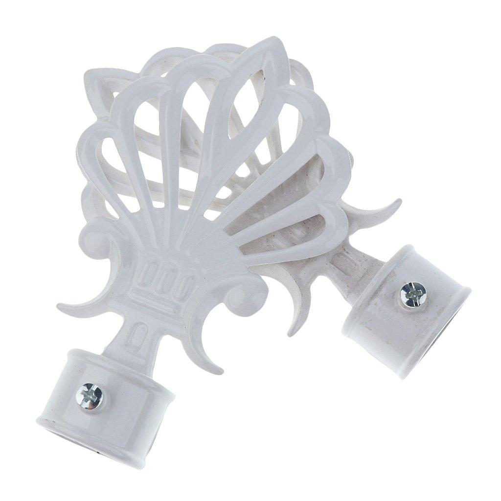 1#Blanc MagiDeal Paire Embout de Tringle /à Rideau D/écoration pour Rideau de Fen/être Maison 28mm