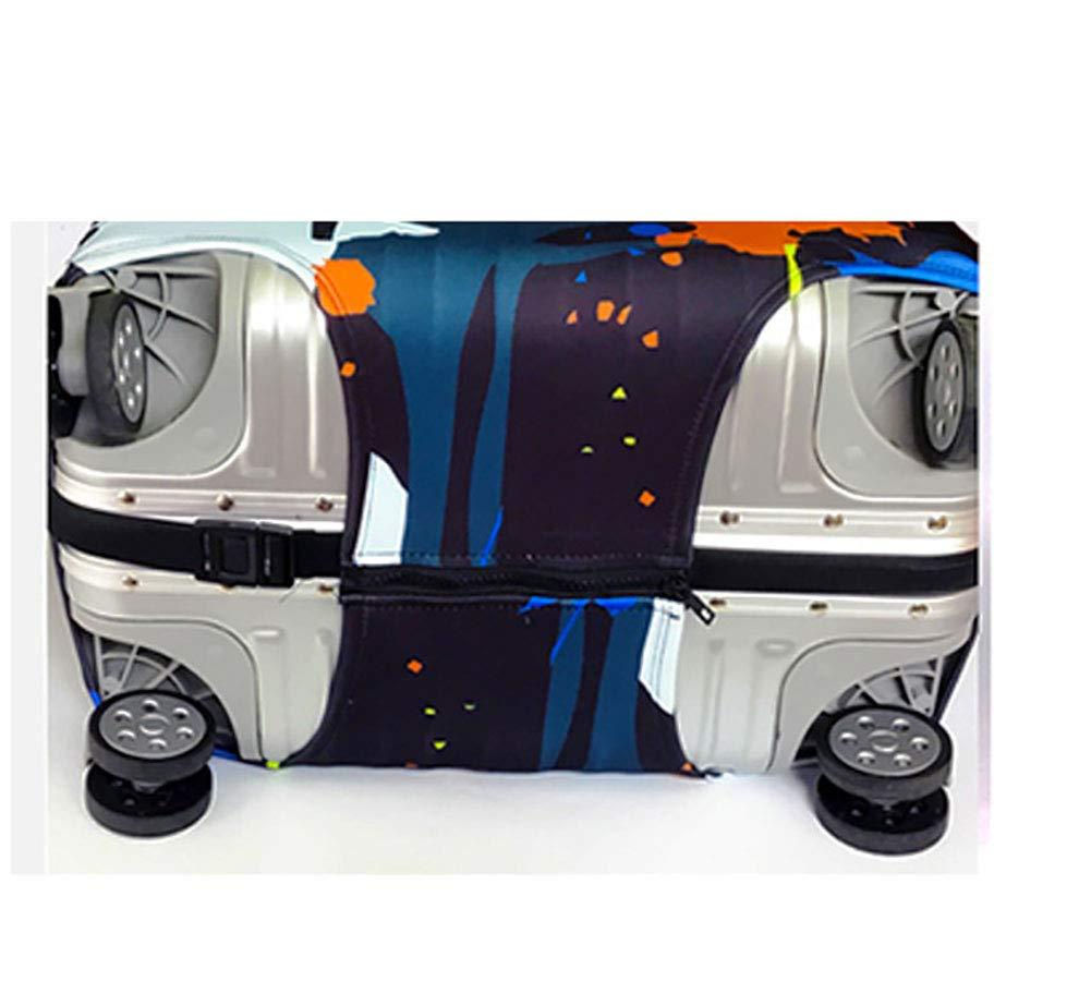 Tierstempel Travel Case kofferschutzh/ülle Trolley Schutzh/ülle Reise staubdicht elastische Tasche Verdickung Druck-Dicke Luft elastische Schicht Tuch,S