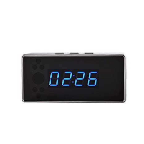 Cámara de reloj despertador, para la cámara de niñera Programa HD 1080p Reloj despertador Cámara