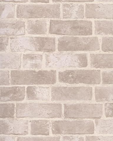York Wallcoverings HE1045 Modern Rustic Brick Wallpaper (Fireplace Wallpaper)