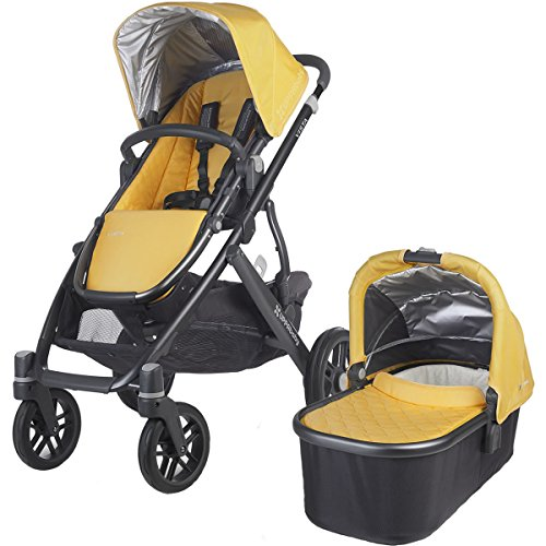 Uppa Baby Vista Stroller With Bassinet Rain Shield - Maya