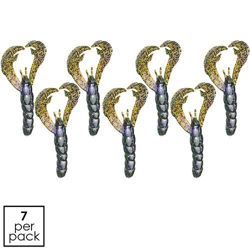 (Strike King RGCRW-144 Rage Tail Craw, 4-Inch, Hard Candy, 7-Per Package)