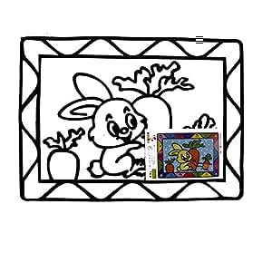 JOJO Rabbit & carrot color slate