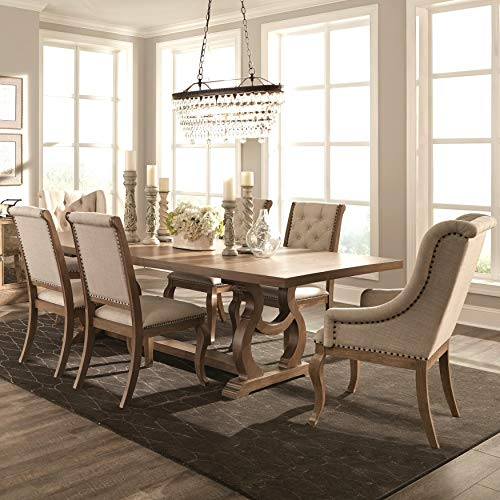 - A Line Furniture French Neoclassic 18th Century Design Dining Set 1-Table, 2-arm Chairs, 8-Side Chairs