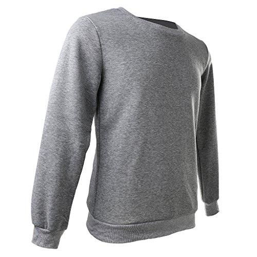 MagiDeal Fleece Pullover Sudaderas Con Capucha De Manga Larga Caliente Para Hombre Mujer hombres gris