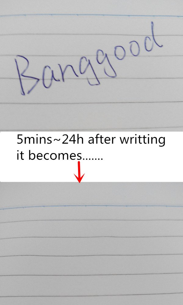 Zauber Kuli Telefonnummer Kugelschreiber max.24h Ersatzmine mit blauer verschwinde Tinte /& Nadelspitze Magic Pen = Geschriebenes verschwindet nach wenigen Sekunden bis Minuten Klassenbuch etc.