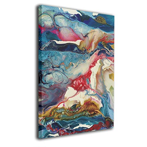 Paintings Canvas Framed Inside Halo World Decorations Pictures Wall Art for Home Decor Living Room Bedroom Stretched Ready to Hang 20x16 Inches]()