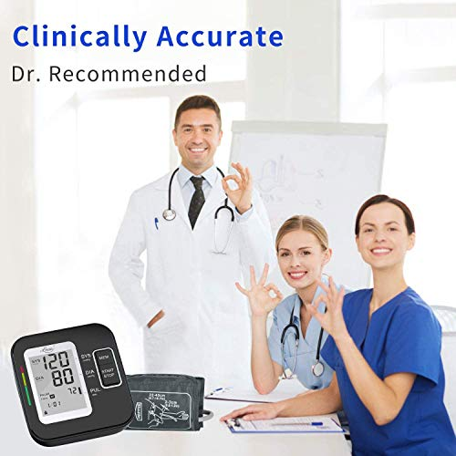 Lovia Blood Pressure Monitor-Automatic Upper Arm Blood Pressure Machine Cuff Kit with Large Display,Irregular Heartbeat & Hypertension Detector,120 Sets Memory