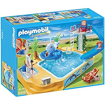 PLAYMOBIL Childrenu0027s Pool With Whale Fountain Playset (Discontinued By  Manufacturer)