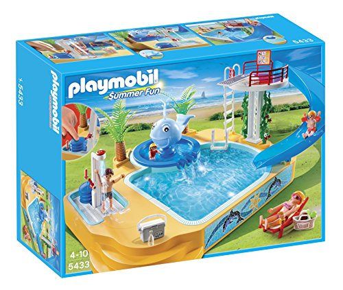 PLAYMOBIL Children's Pool with Whale Fountain Playset (Discontinued by - Manufacturer Italian Sunglass