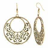 Efulgenz Boho Jewelry Indian Oxidized Gold Vintage Retro Ethnic Dangle Tribal Tibetan Gypsy Dangle Earrings for Girls Women
