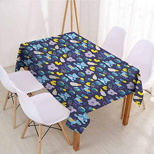 ScottDecor Rectangular Polyester Tablecloth Fabric Tablecloth W 52