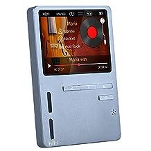 ONN X6 Hifi MP3 High Resolution Audio Player with HD Screen Bass Speaker FM, Support APE/FLAC/ALAC/WAV/WMA/OGG/MP3
