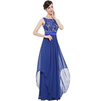 3c06bb299dc3 HEHEM Evening Dress Sexy Women Long Chiffon Lace Evening Formal Party Ball  Gown Prom Bridesmaid Dress  Amazon.co.uk  Clothing