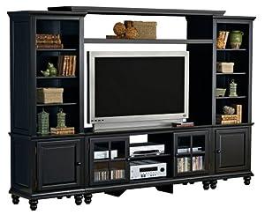 hillsdale grand bay large entertainment wall unit black kitchen dining. Black Bedroom Furniture Sets. Home Design Ideas