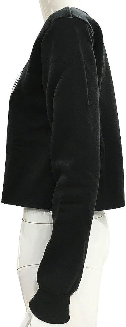 Womens Cute Alien Long Sleeve Pullover Sweatshirt Shirt Blouses Crop Tops
