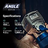 Capri Tools 1/2 in. Air Angle Impact Wrench, 450
