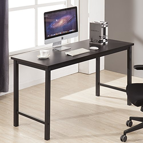 CMO Large Size Modern Computer Desk Long Office Desk Writing Desk, Workstation Table for Home Office, Black by CMO