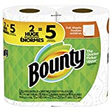 Bounty Paper Towels, White, 2 Double Plus Rolls = 5 Regular Rolls
