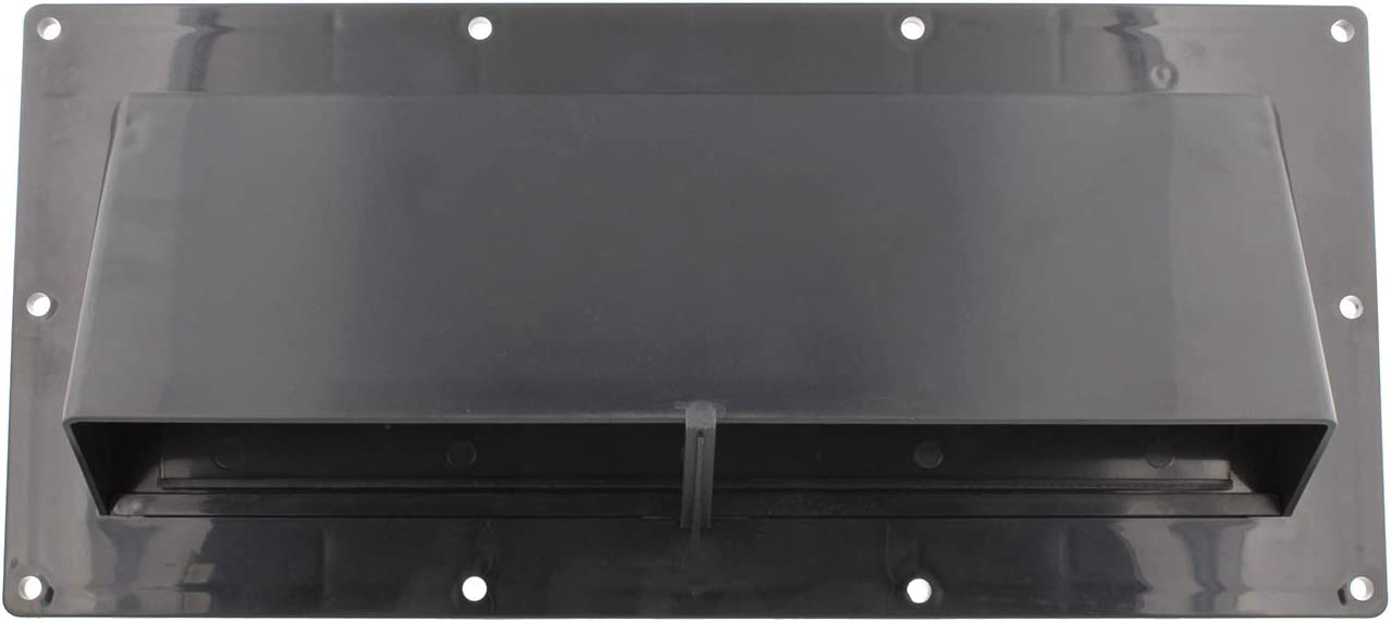 Dumble RV Range Vent Cover Exterior Vent with Locking Damper and Screws, RV Exhaust Vent Cover for RV Stove Vent - Black