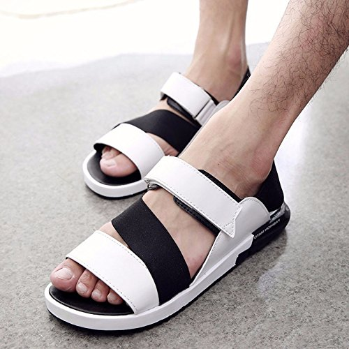 Estate Men Flip flop tendenza uomini sandali summerTrend moda non slip Beach trend Leisure Sandali, bianco, UK = 7, EU = 40 2/3