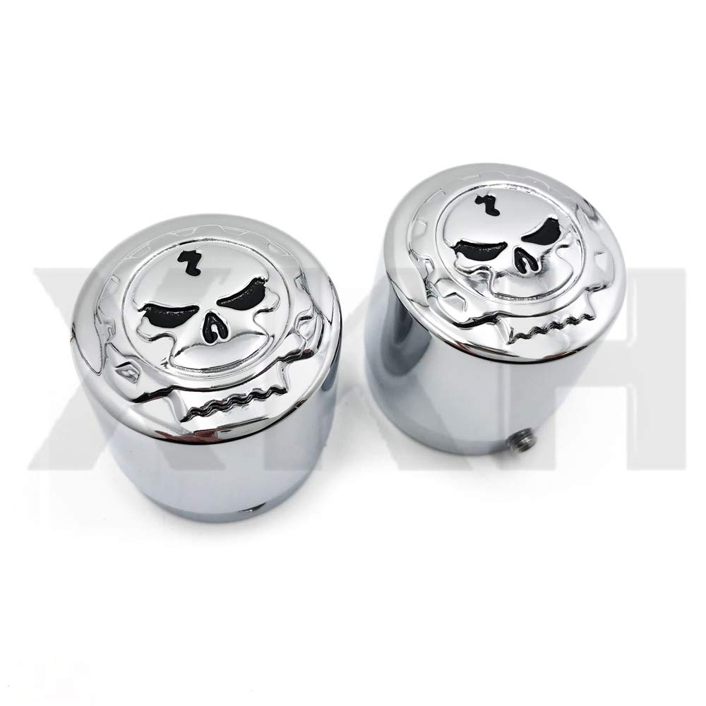XKMT- Replacement of Skull Front Axle Nut Cover Cap 29mm For Harley Softail Dyna V-Rod Sportster