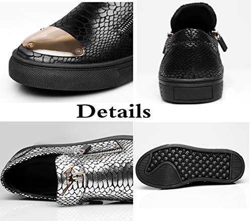Black De De Mocasines Para Moda Hombres Ocasionales Perezosos Conducción Zapatos Zapatos t8vZr8q