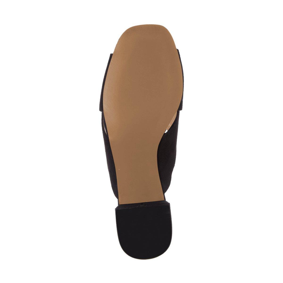 premium selection 5a63e db3e0 Sandalias de gamuza casual de las mujeres de FSJ sandalias de punta abierta  Chunky Tacones bajos mulas zapatos cómodos Tamaño 4-15 Negro