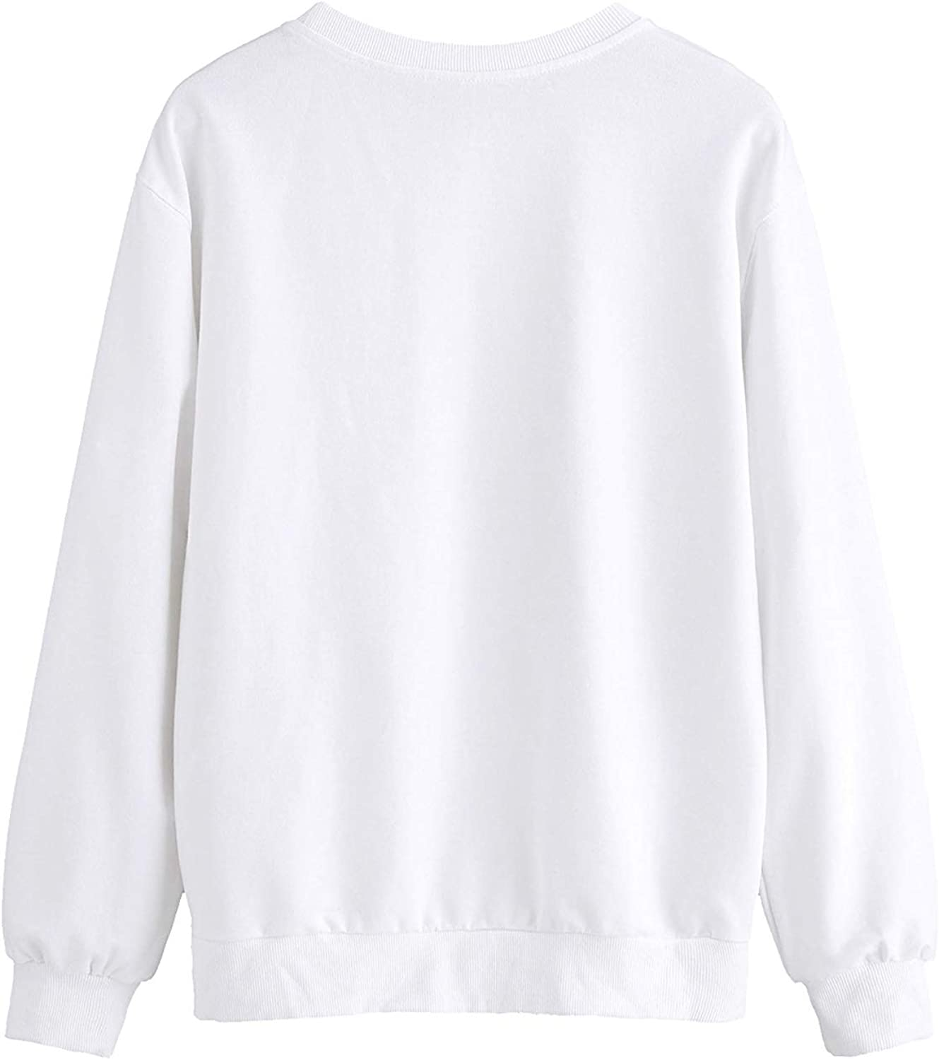 WLLW Fall Clothes Women Homebody Pullover Tops Solid Color Long Sleeve Sweatshirt