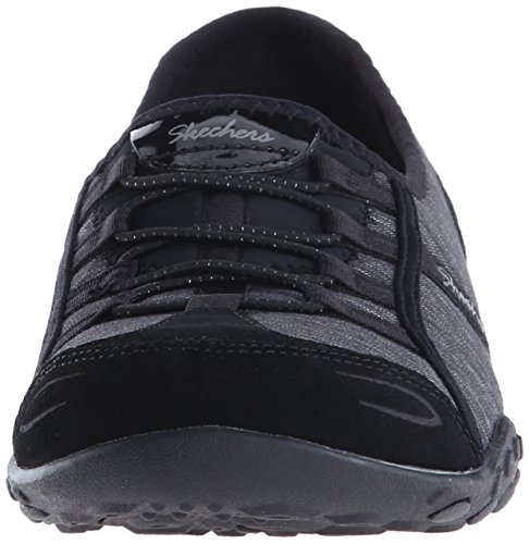 Suede Fashion Good Life Sport Charcoal Black Skechers Women's Sneaker wSqf0RAR