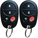 Toyota Sienna Key Fob, BestRemotes New Replacement Keyless Entry Remote Key Fob for Toyota Sienna with FCC ID GQ43VT20T (2 Pack)