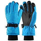 Fazitrip Women's Ski Gloves, 3M Thinsulate Snow Warm Insulated Winter Gloves Windproof Waterproof Gloves for Skiing, Snowboarding and Skating