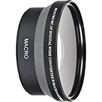 72MM Wide Angle 0.45x Conversion Lens with Macro Close-Up Attachment for Nikon, Sony, Samsung, Sigma, Fujifilm, Fuji, FUJINON, Tamron, Tokina, Pentax, Carl Zeiss Lens (for 72mm filter thread)