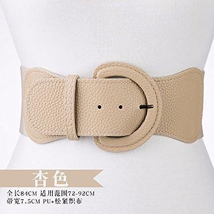HAPPY-BELT Cinturón Decorativo de Moda Boutique En la Primavera de 2018 Tramo Cintura elástica