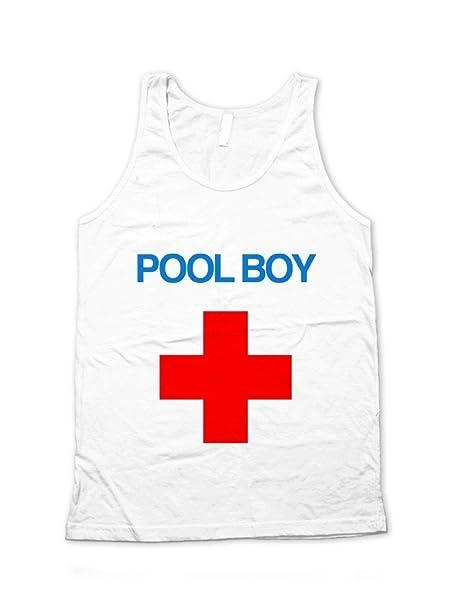 5d91e4a94d4 Ava Wilde Pool Boy Red Cross Lifeguard Unisex Tank Top  Amazon.ca  Clothing    Accessories