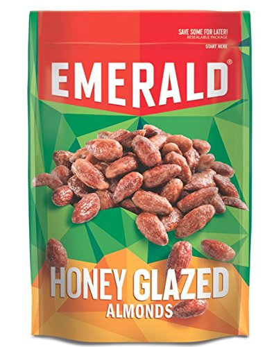 Emerald Honey Glazed Almonds, Stand Up Resealable Bag, 6 Ounce