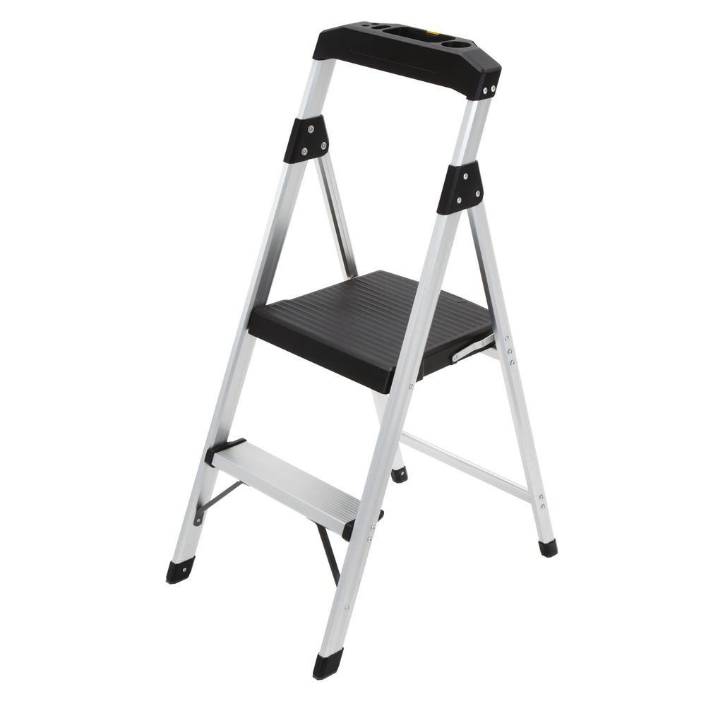 Gorilla Ladders 2-Step Aluminum Step Stool Ladder with 225 lb. Type II Duty Rating