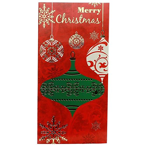 JAM Paper Christmas Money Card Sets - Merry Christmas Ornaments -6/pack