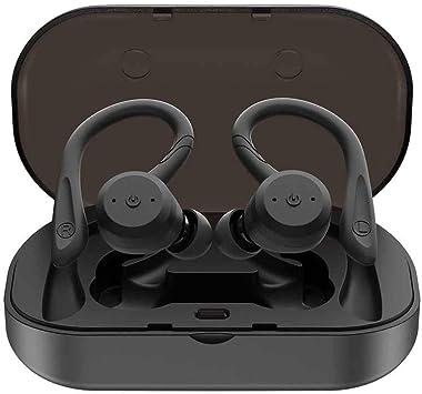 Auriculares inalámbricos Bluetooth con caja de carga, 5.0 auriculares Bluetooth, TWS Auriculares Bluetooth verdaderos PX7 inalámbrico Inalámbrico intercambiable Auriculares intercambiables Auriculares: Amazon.es: Electrónica