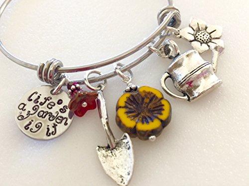 Garden Lover's Charm Bracelet