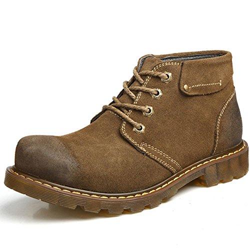 TAOFFEN Mens Classic Martin Shoes Chukka Boots Khaki