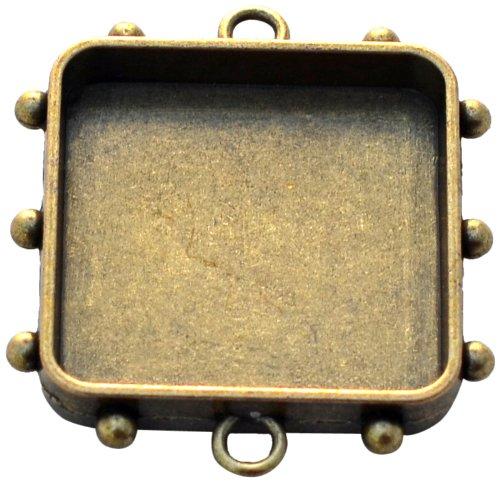 - Susan Lenart Kazmer Art Mechanique Square Hobnail, Medium, Antique Brass