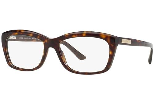 Giorgio Armani Für Frau 7032 Dark Tortoise Kunststoffgestell Brillen, 55mm